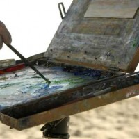 Painting at the Beach