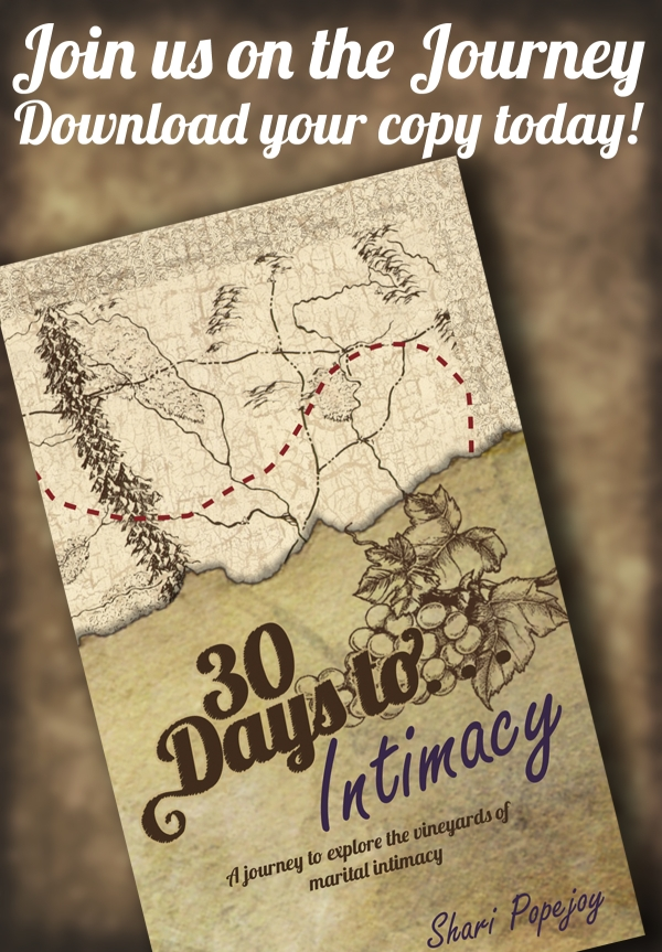 Join us for the 30 days to Intimacy journey!  Download your copy on Amazon!
