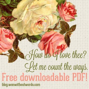 How do I love thee free downloadable PDF