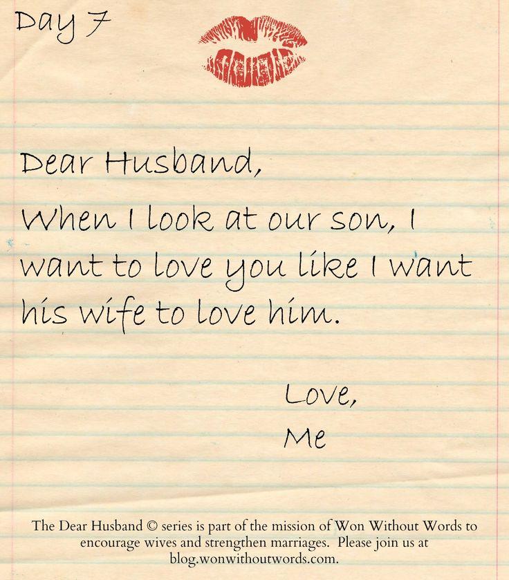 dear husband series; blog.wonwithoutwords.com