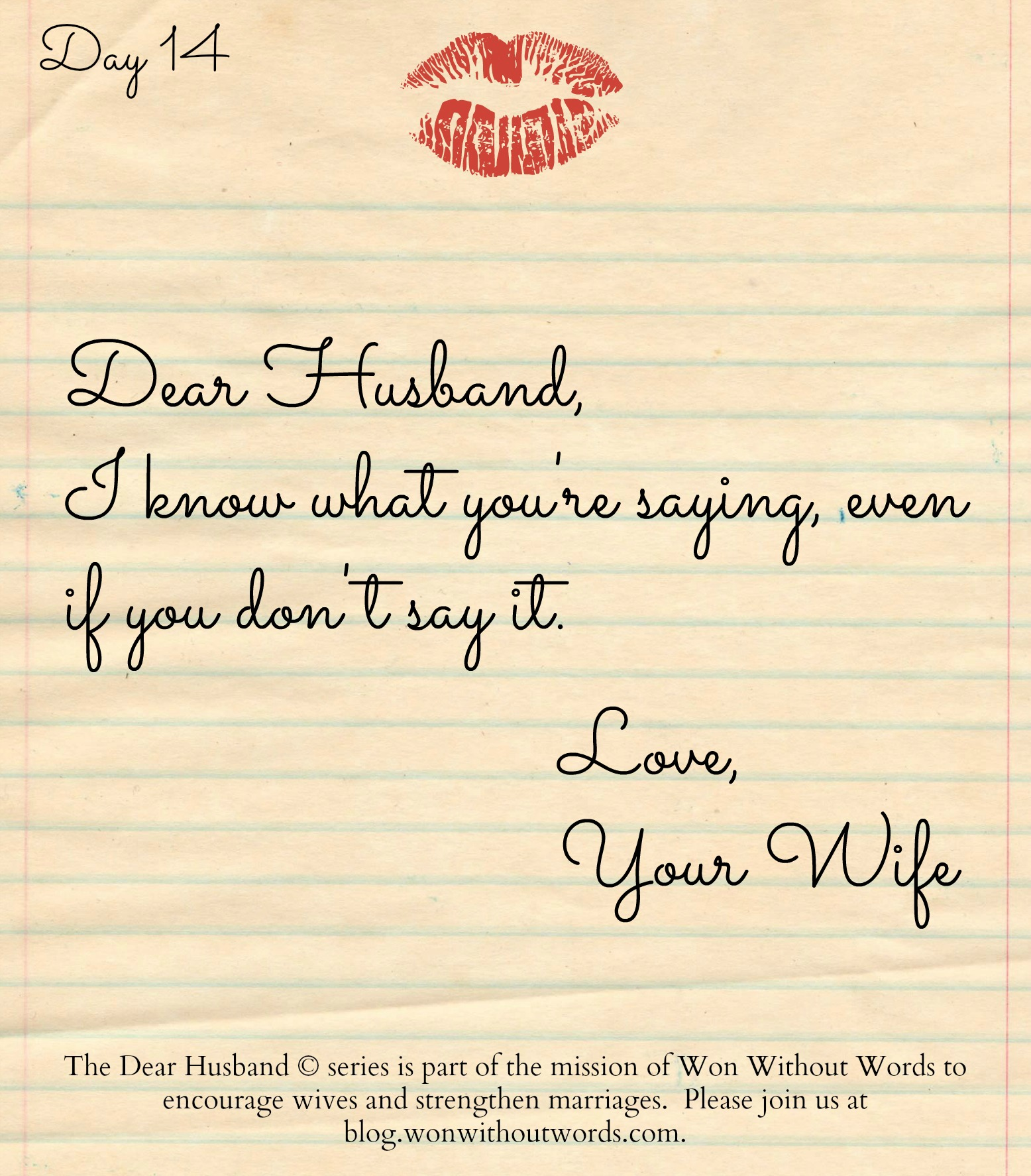 Dear Husband, I Know What You're Saying